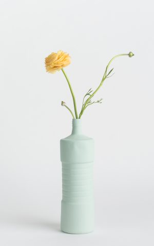 bottle vase #5 mint with flower
