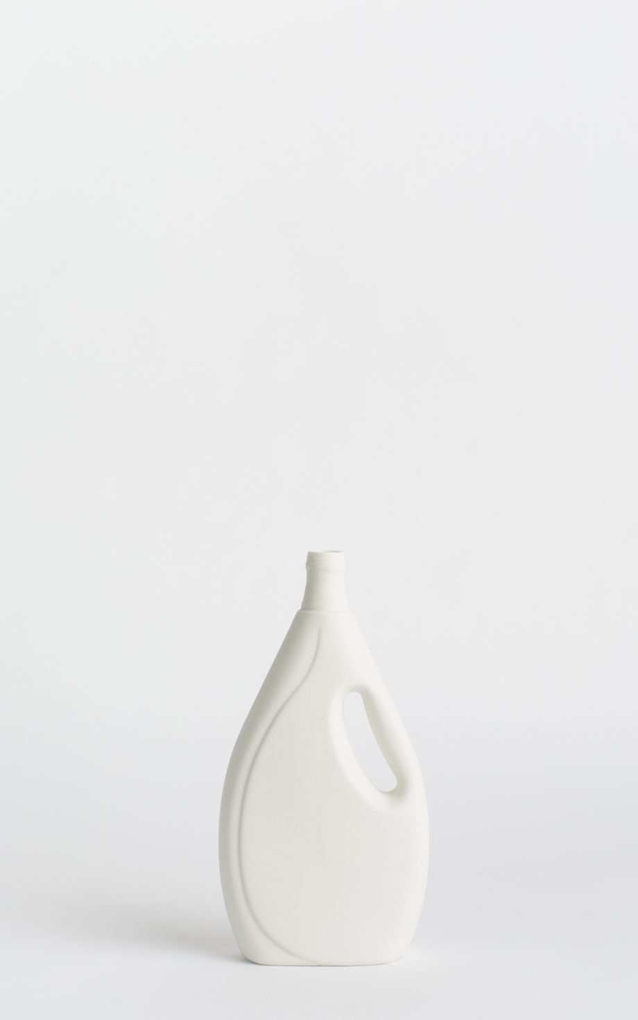 bottle vase #7 white