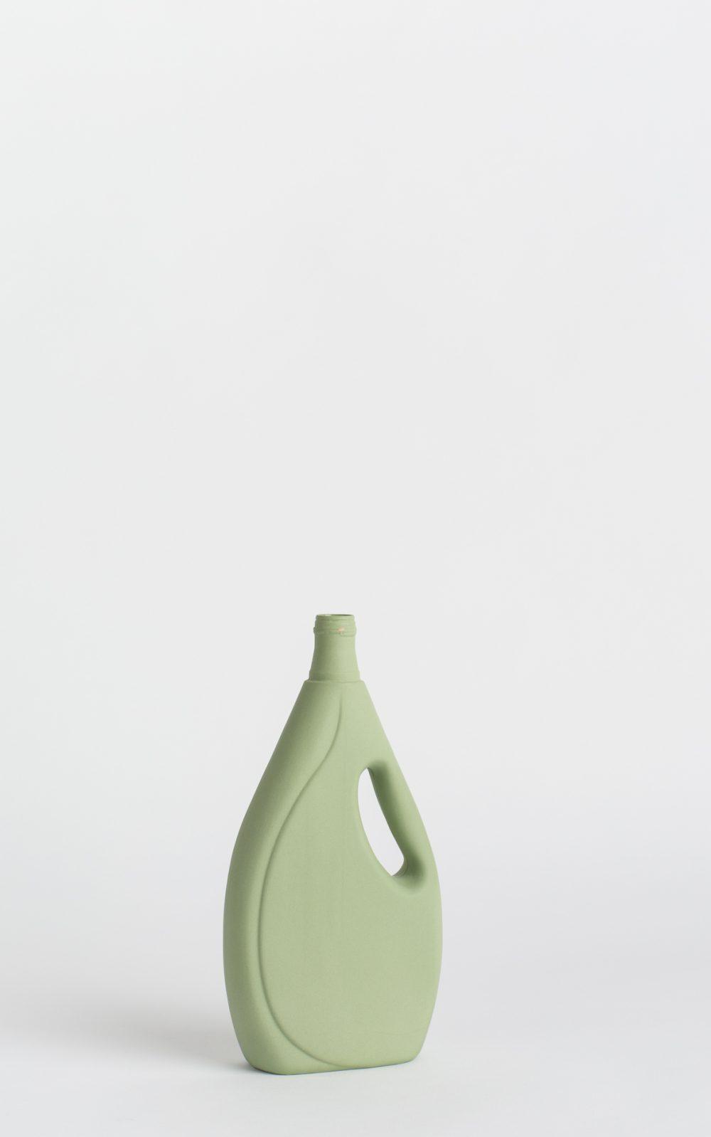 bottle vase #7 dark green
