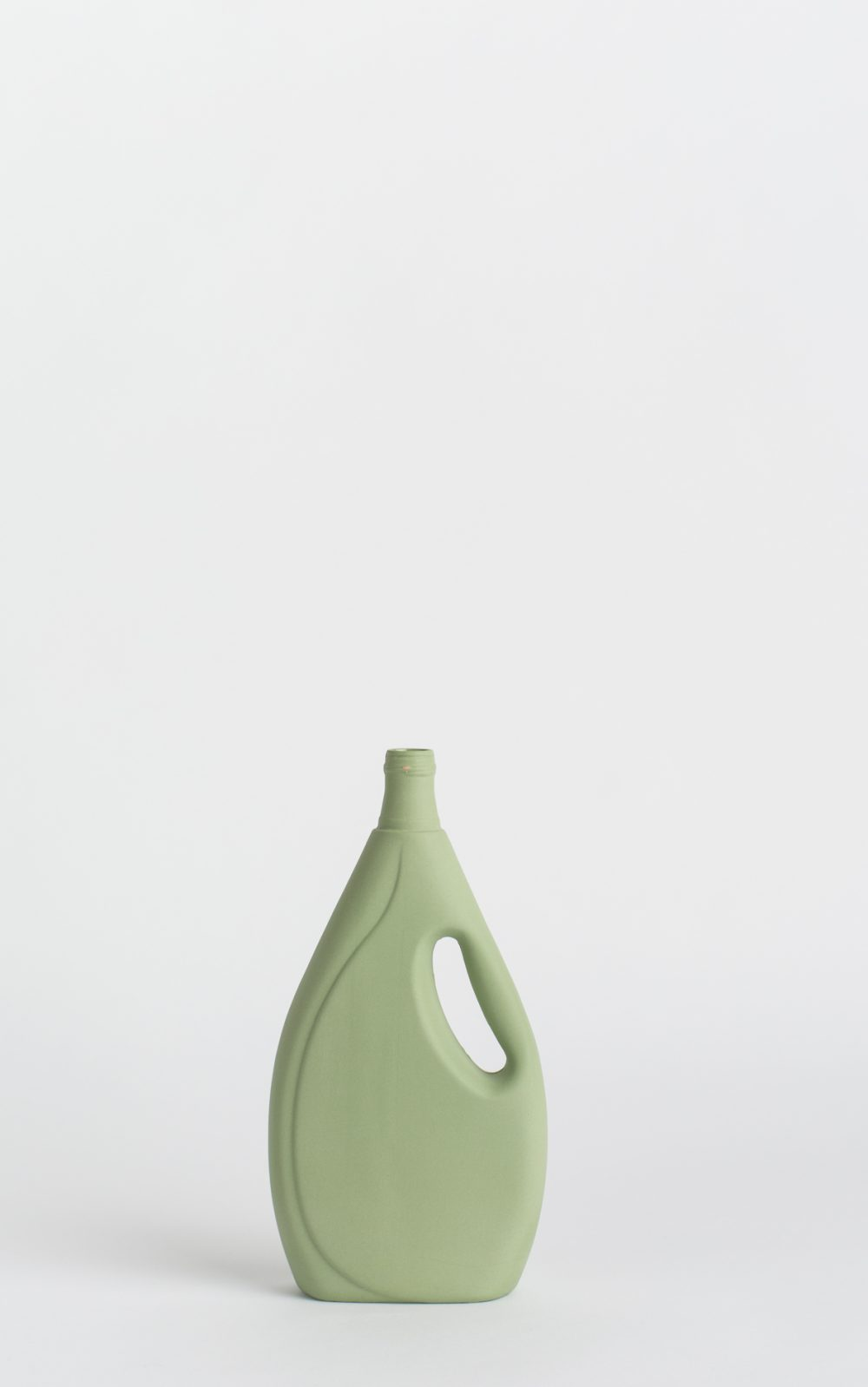 bottle vase #7 dark green