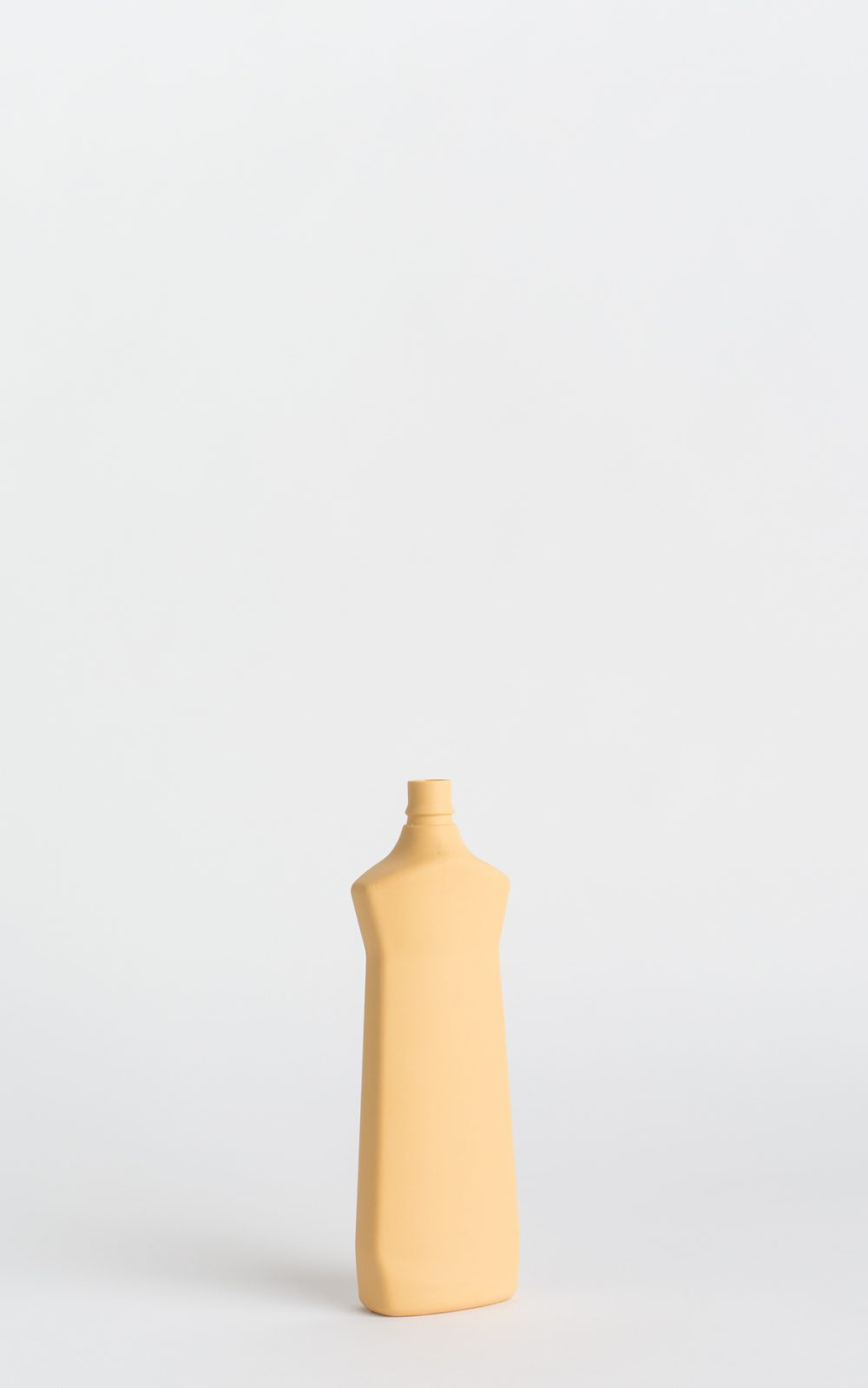 bottle vase #1 warm yellow