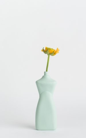 bottle vase #8 mint with flower