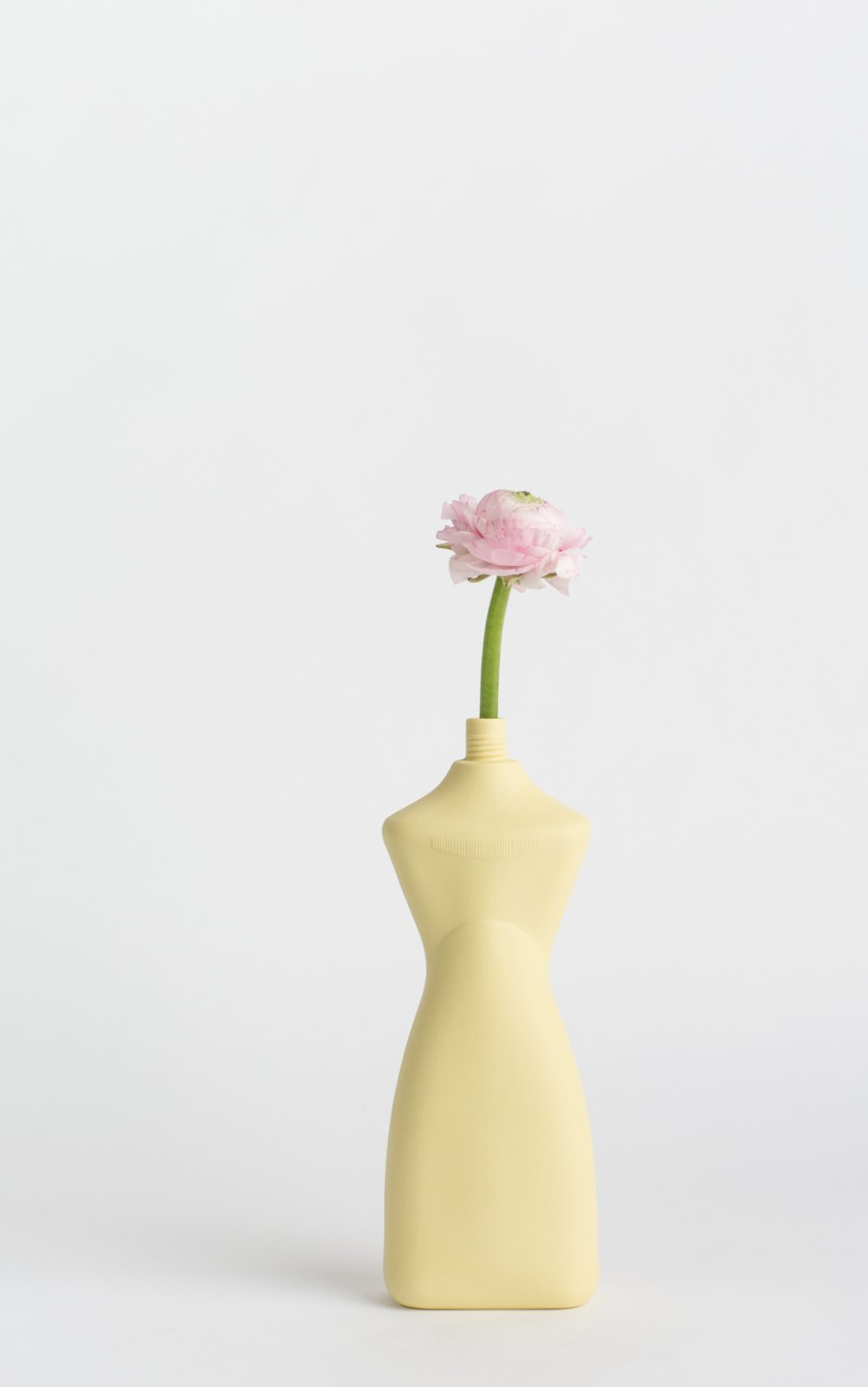 bottle vase #8 fresh yellow with flower