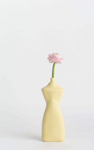 bottle vase #8 fresh yellow with flower