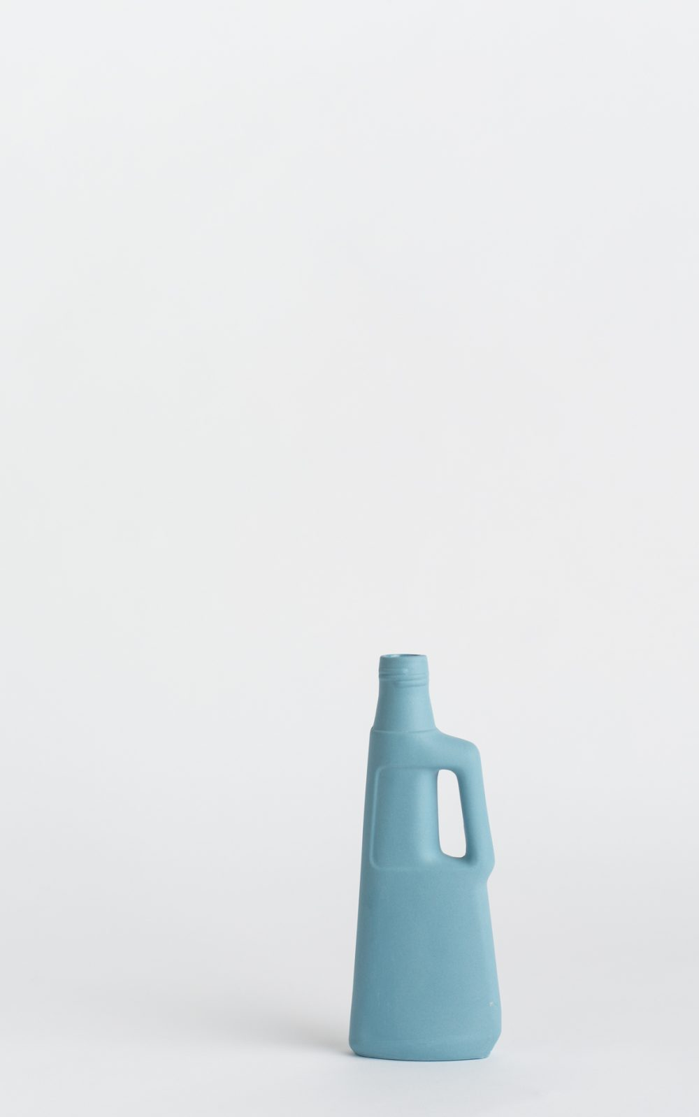 bottle vase #9 light blue
