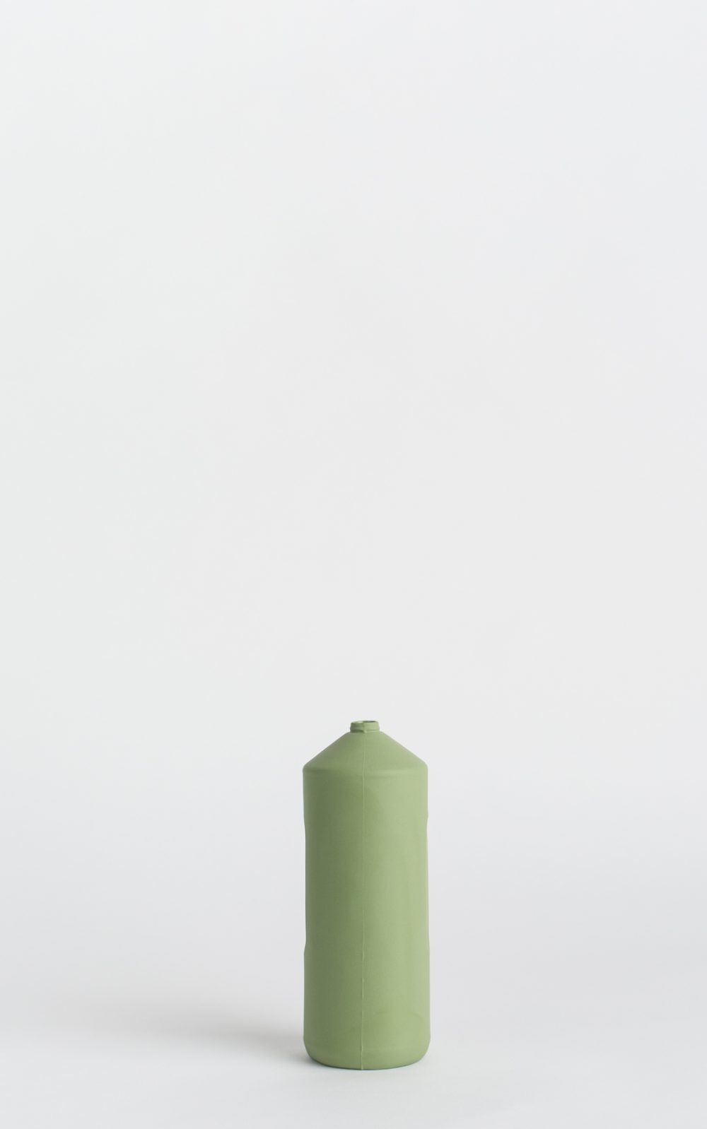 bottle vase #2 dark green army green