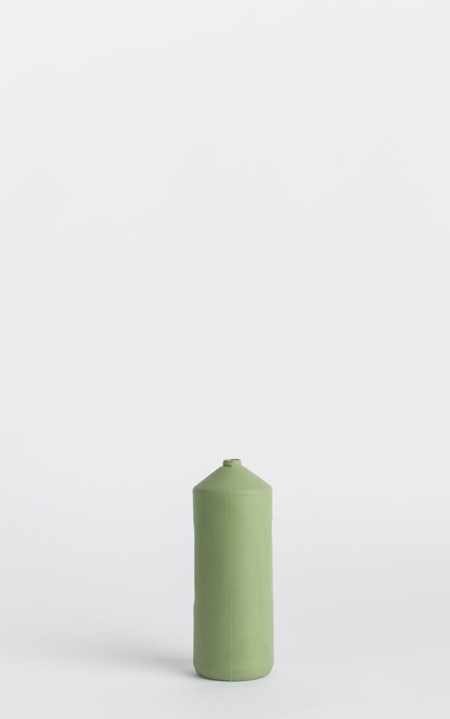 bottle vase #2 dark green army green