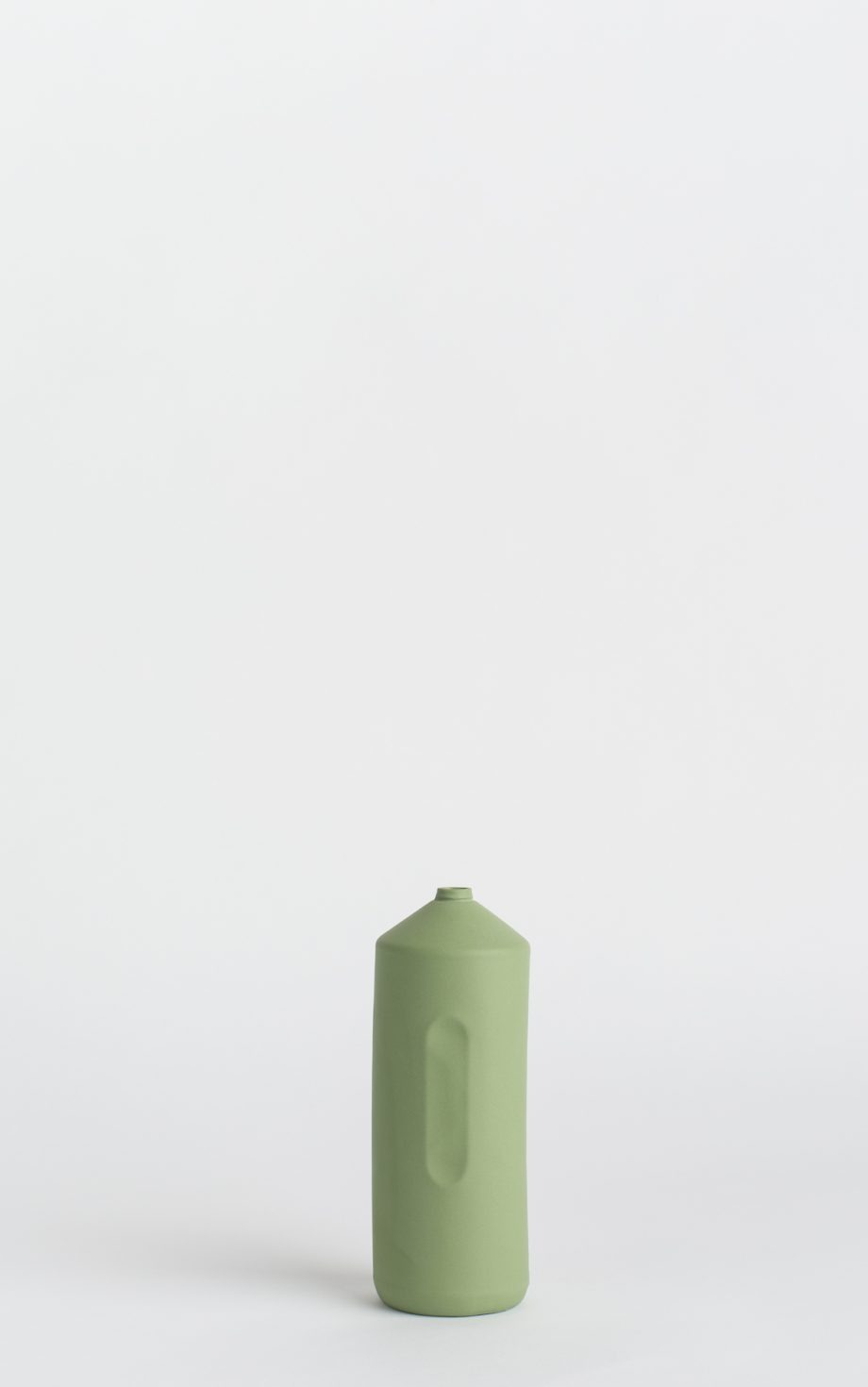 bottle vase #2 dark green