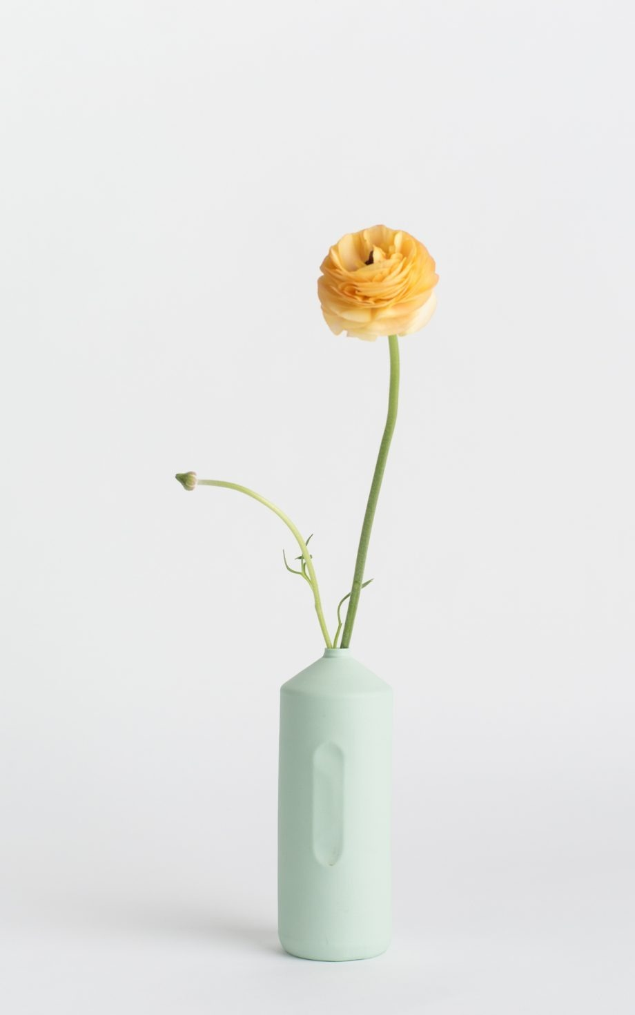bottle vase #2 mint with flower