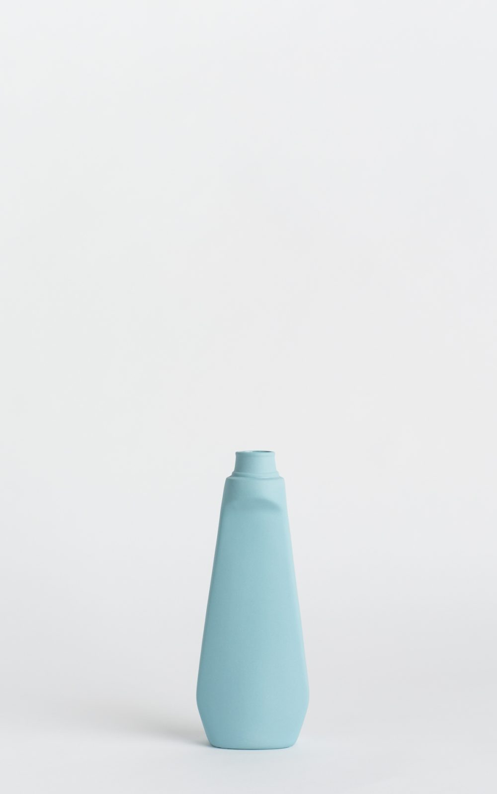 bottle vase #4 light blue