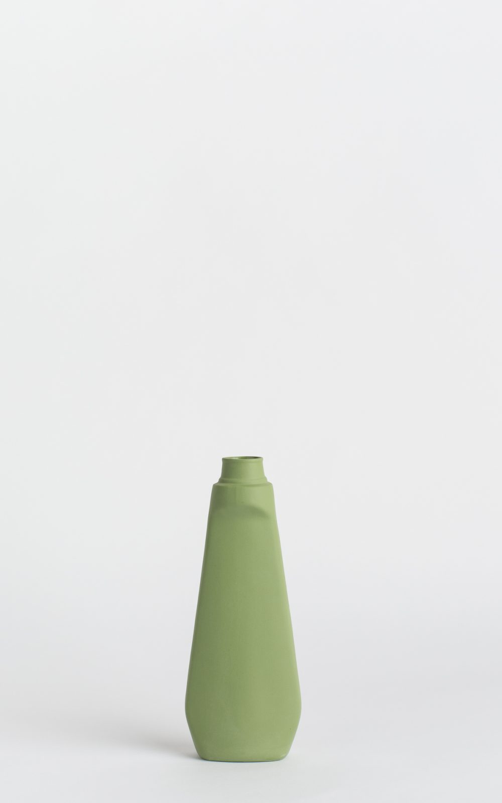 bottle vase #4 dark green