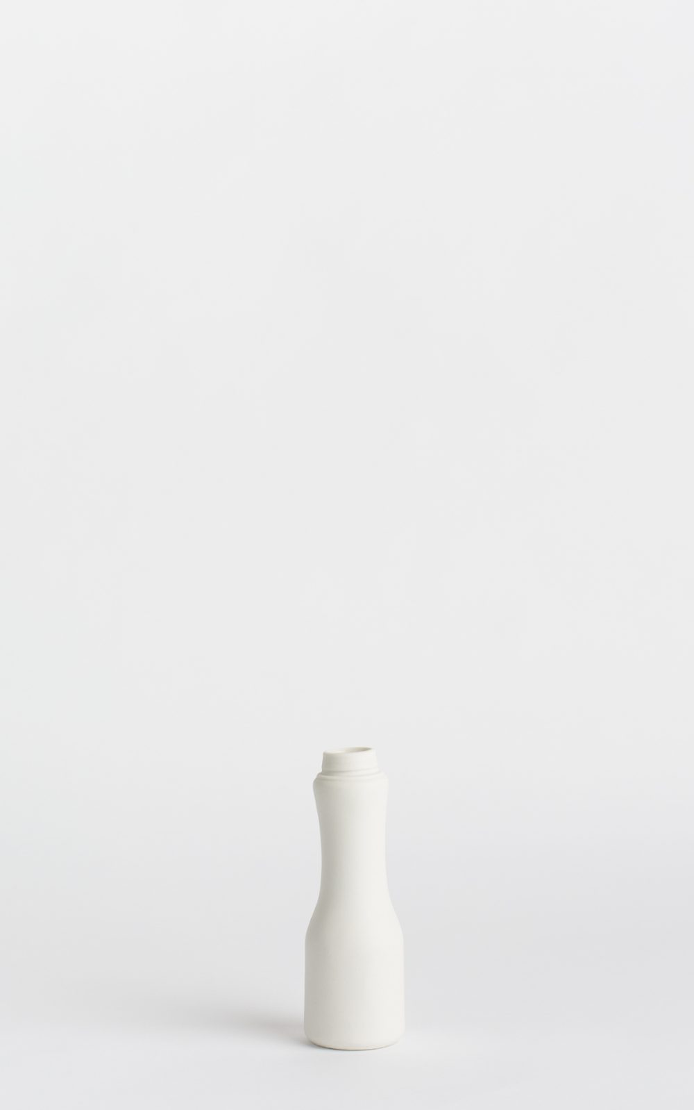 bottle vase #6 white