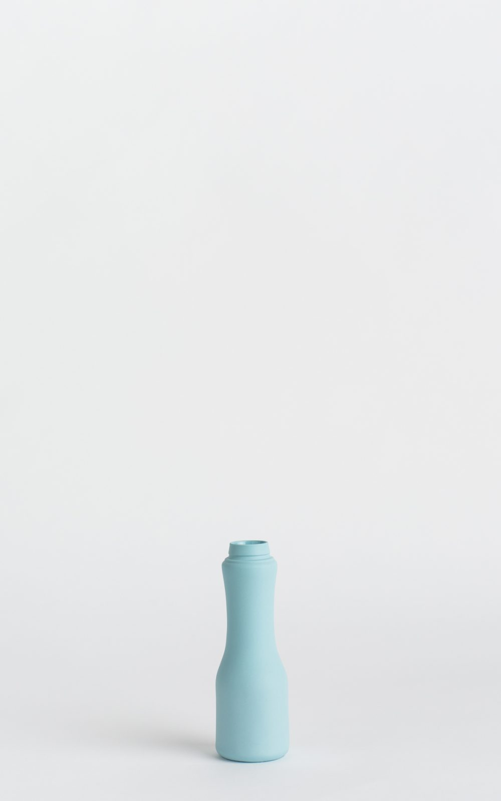 bottle vase #6 light blue