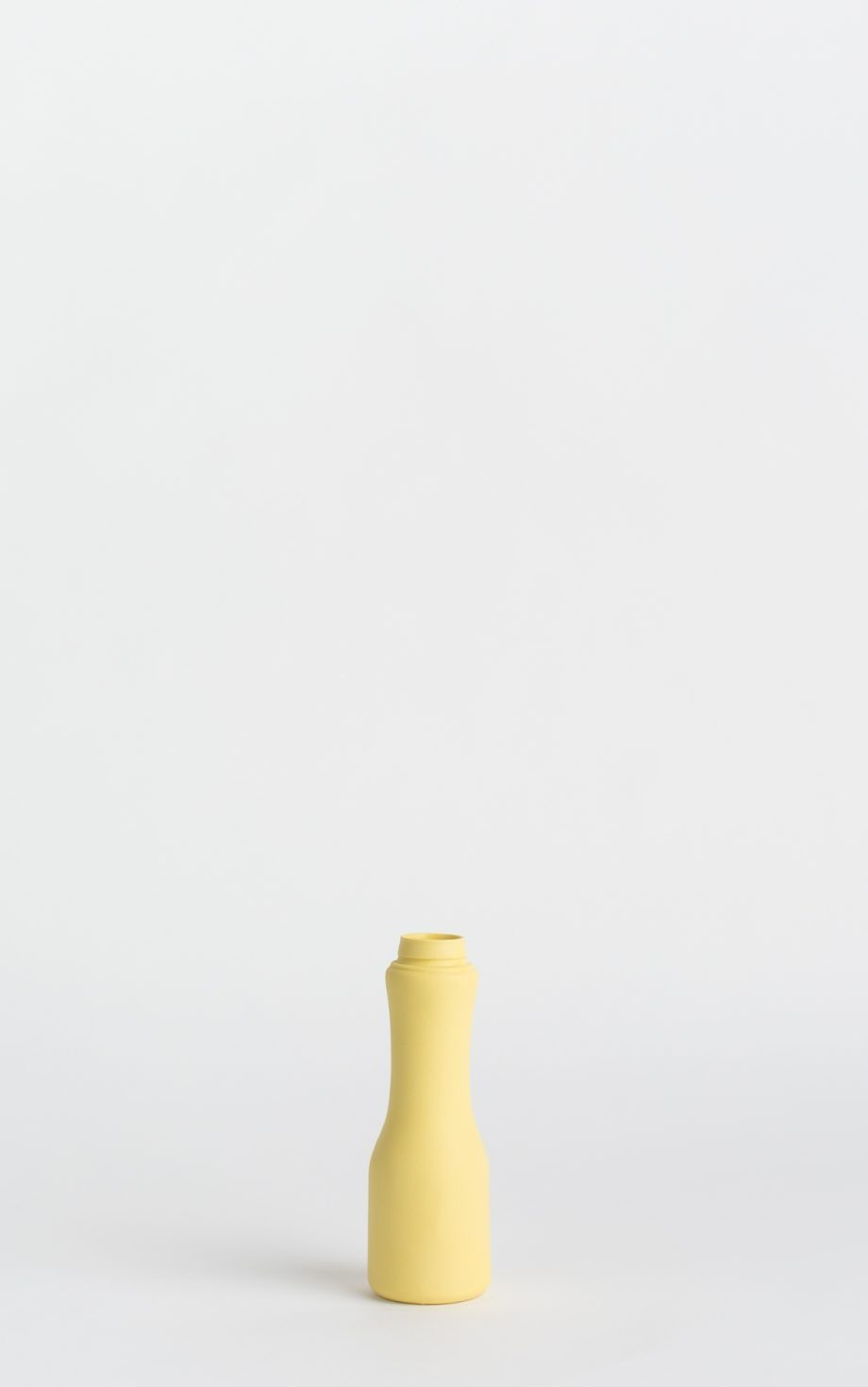 bottle vase #6 warm yellow