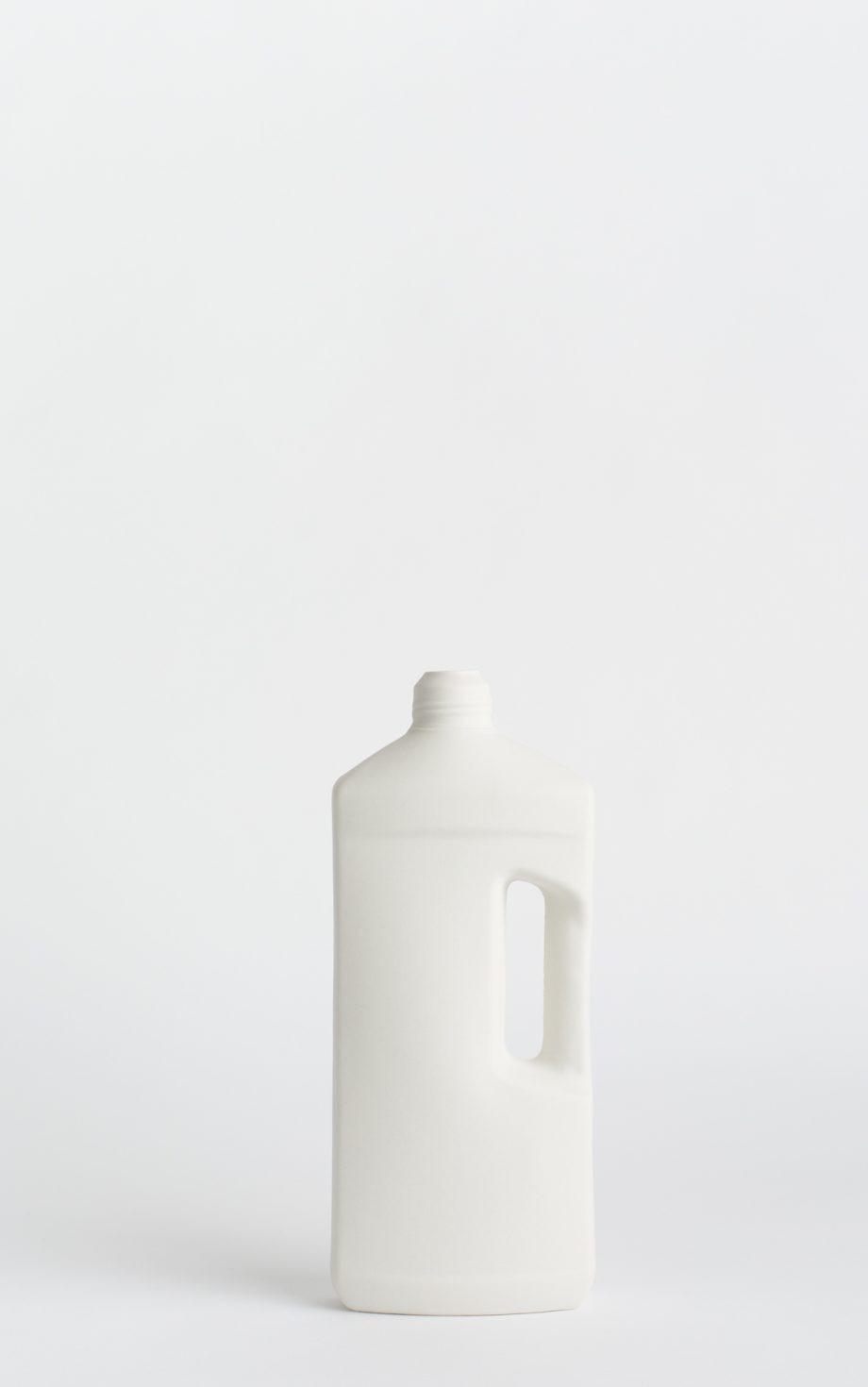 bottle vase #3 white