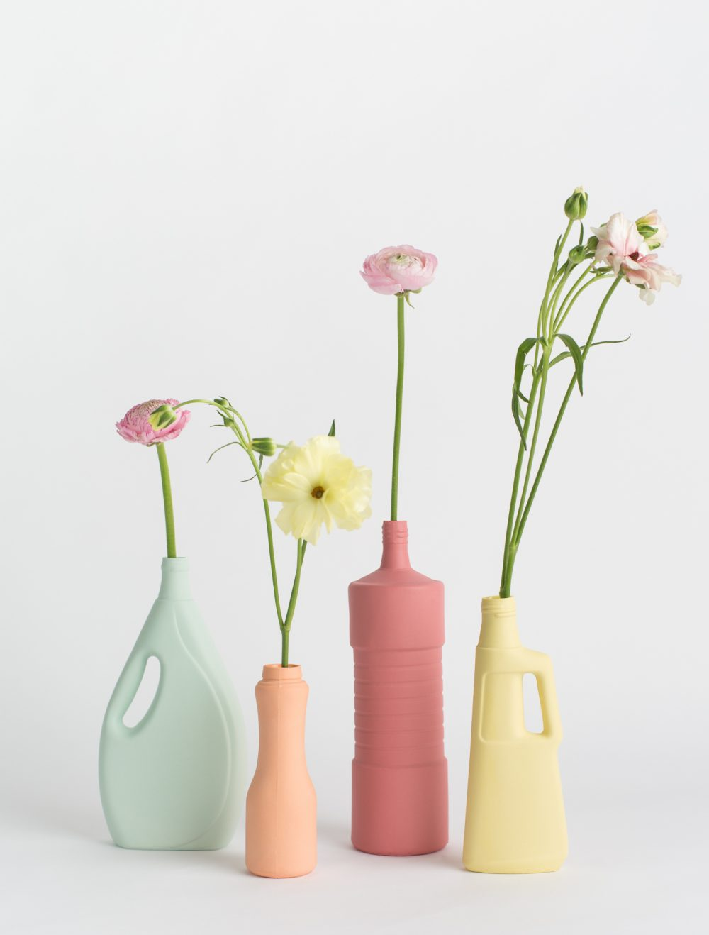 foekje fleur bottle vases set of four