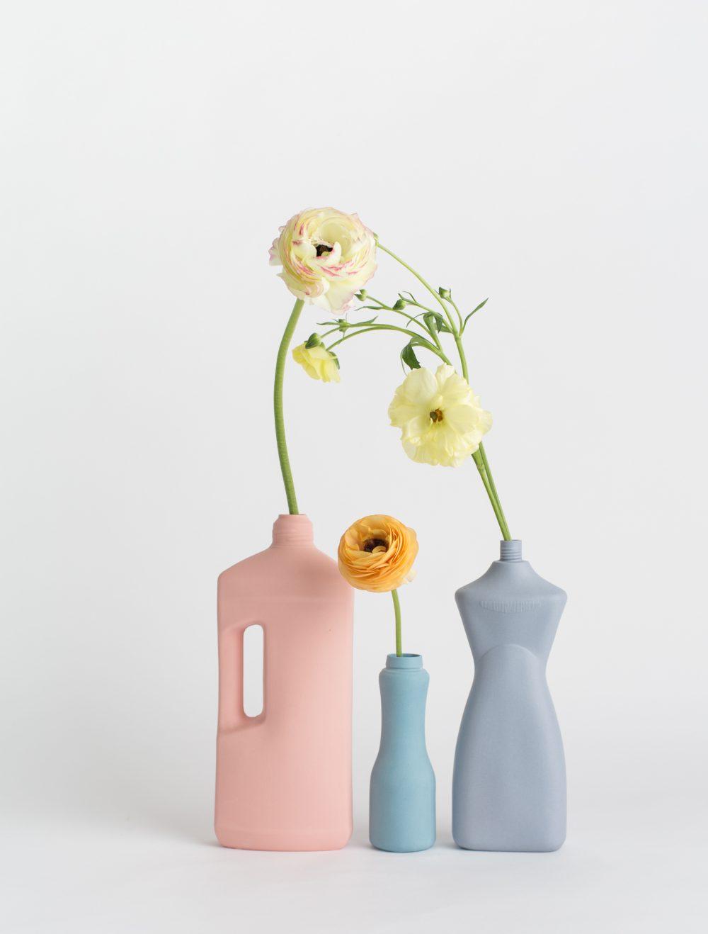 foekje fleur bottle vases set of 3