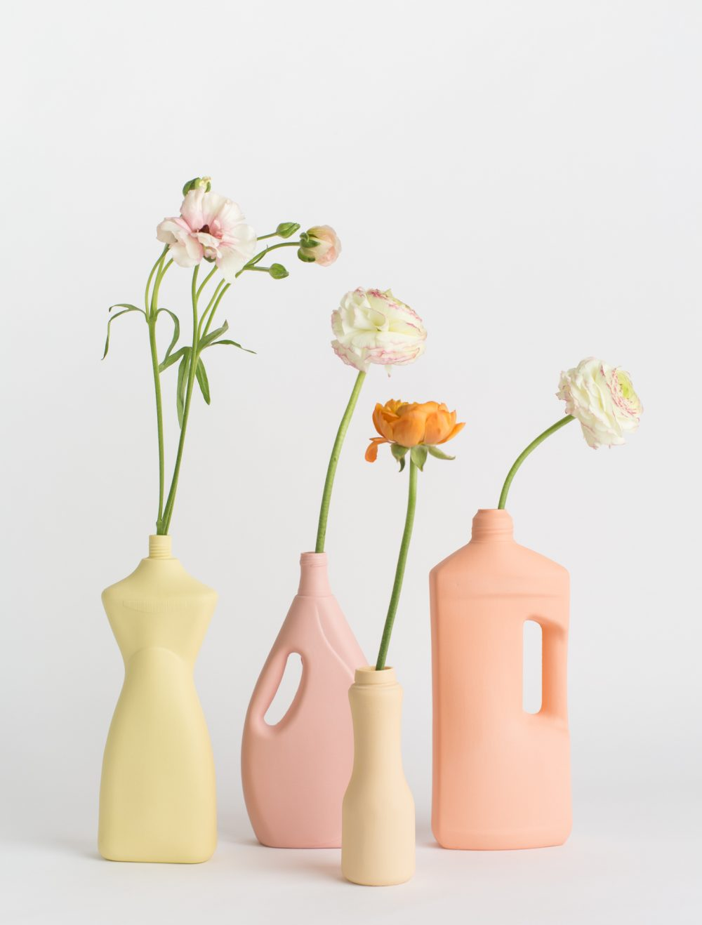 foekje fleur bottle vases warm pallet set