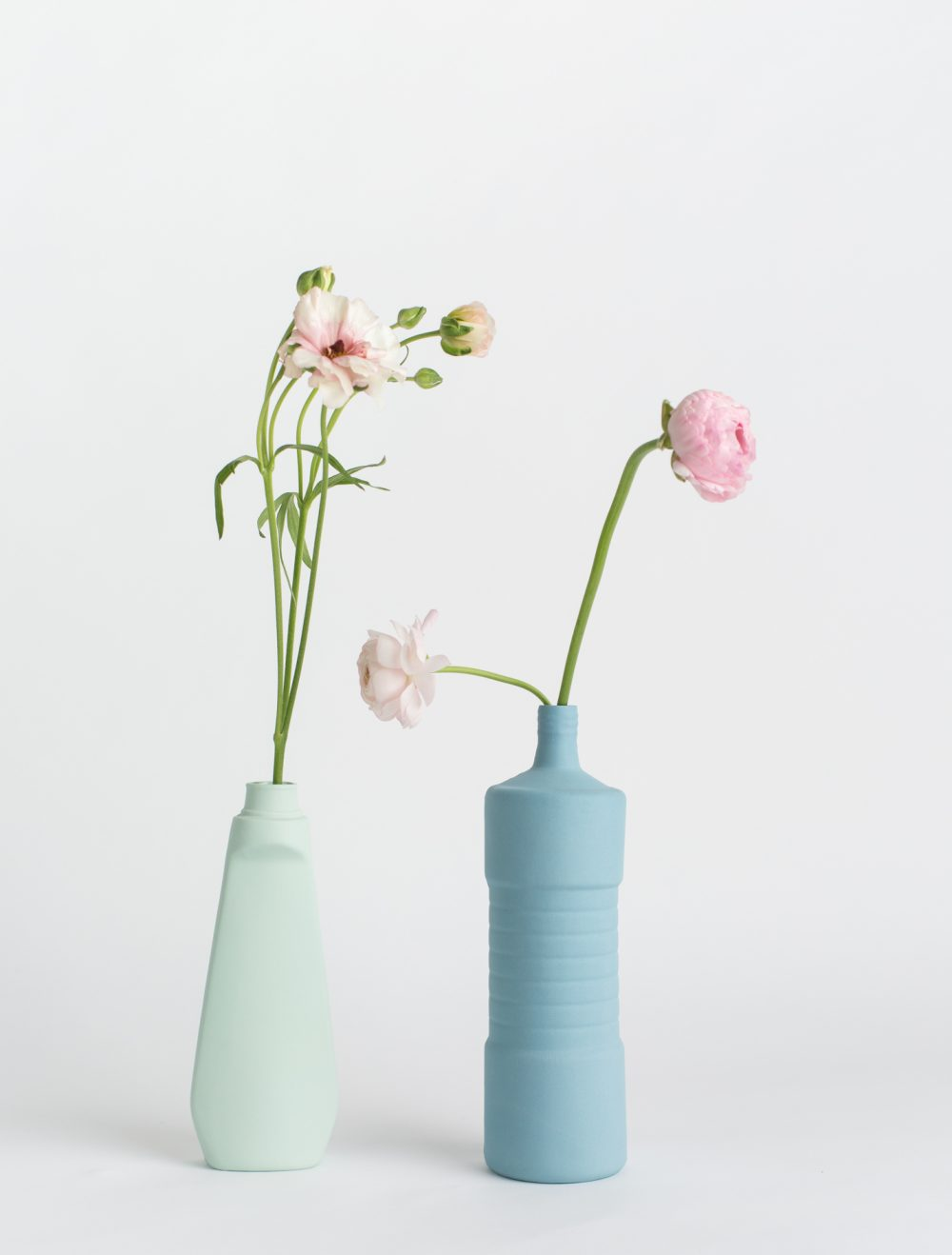 foekje fleur bottle vases blue set