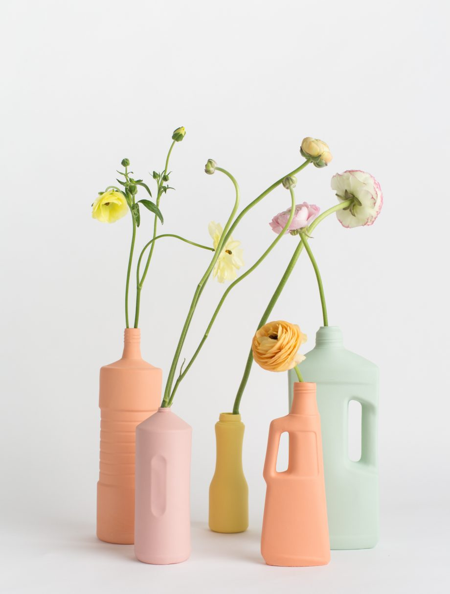 foekje fleur bottle vases set of 5