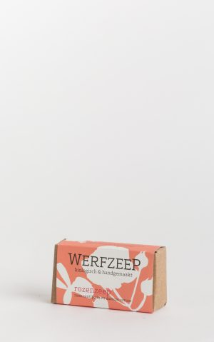 organic werfzeep rose soap bar