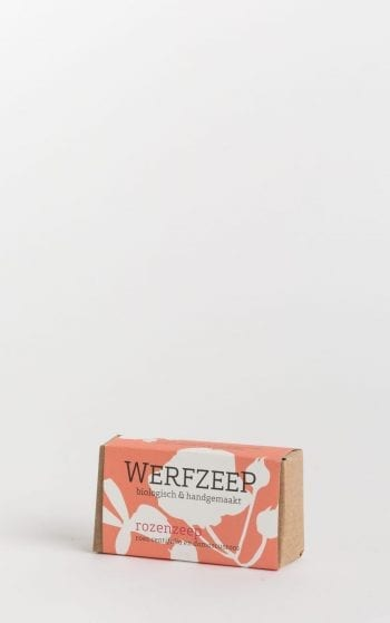 organic werfzeep rose soap bar