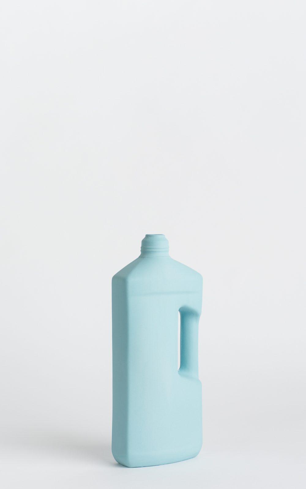 bottle vase #3 light blue
