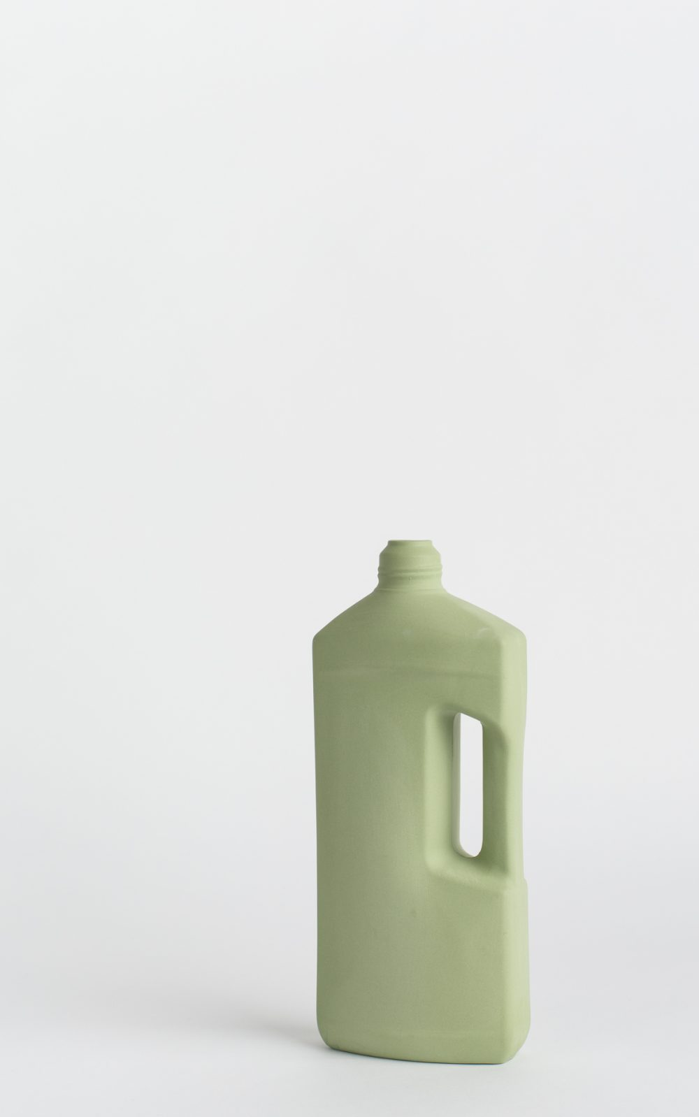 bottle vase #3 dark green