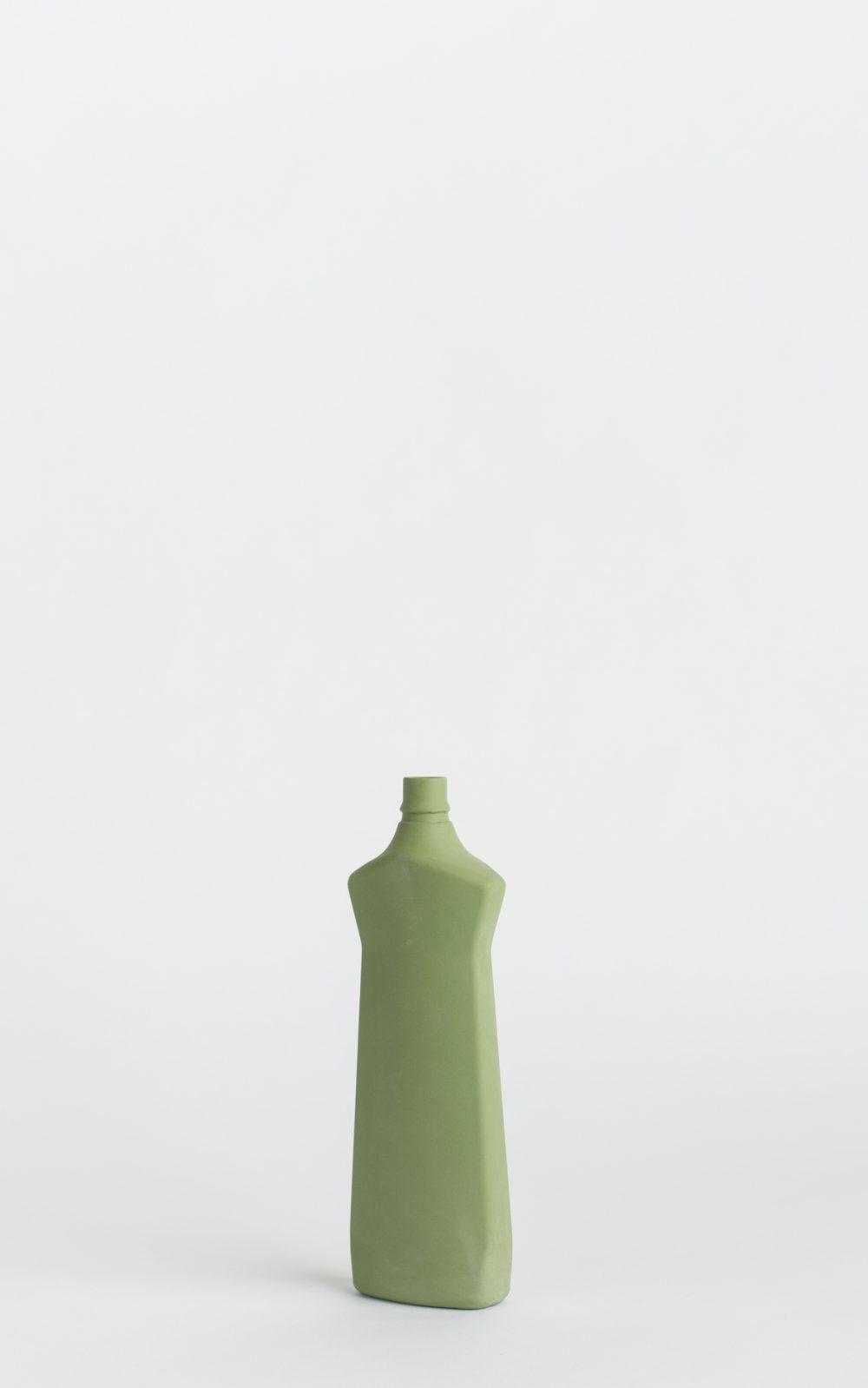 bottle vase #1 dark green