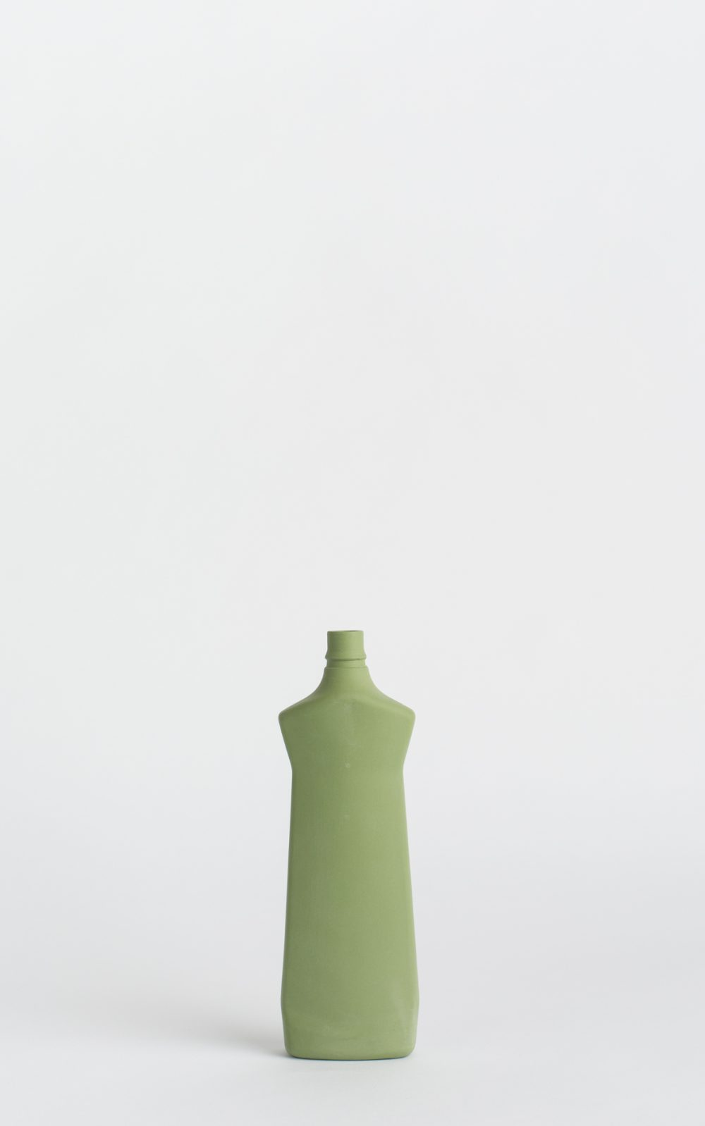 bottle vase #1 dark green