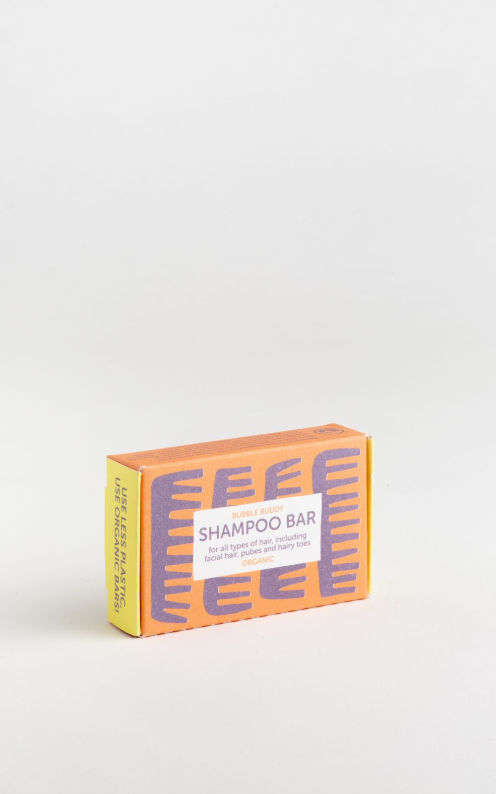 Organic shampoo soap bar suitable for hand luggage.