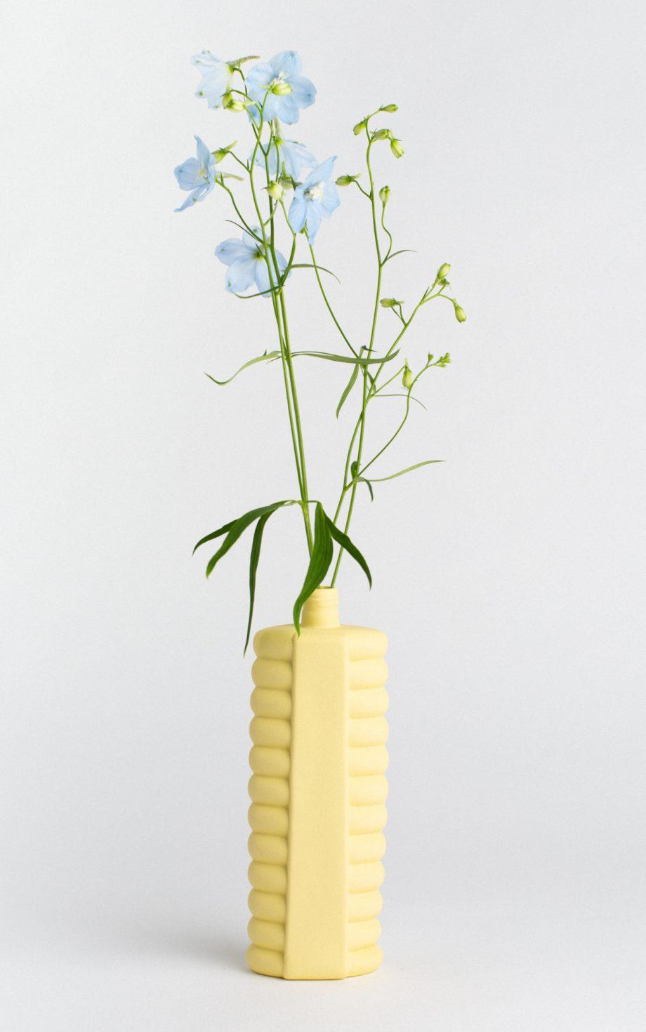 bottle vase #11 fresh yellow