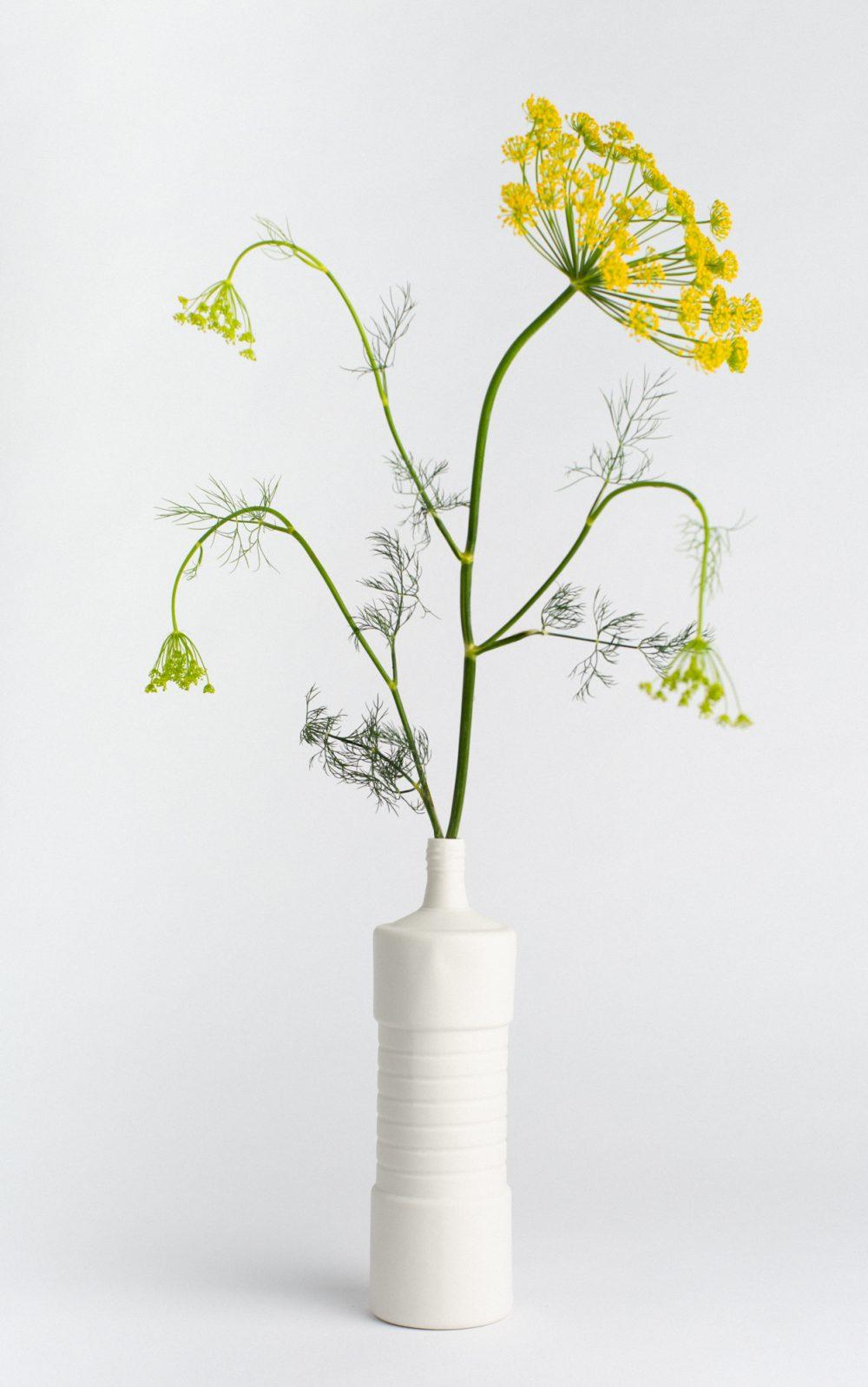 bottle vase #5 white