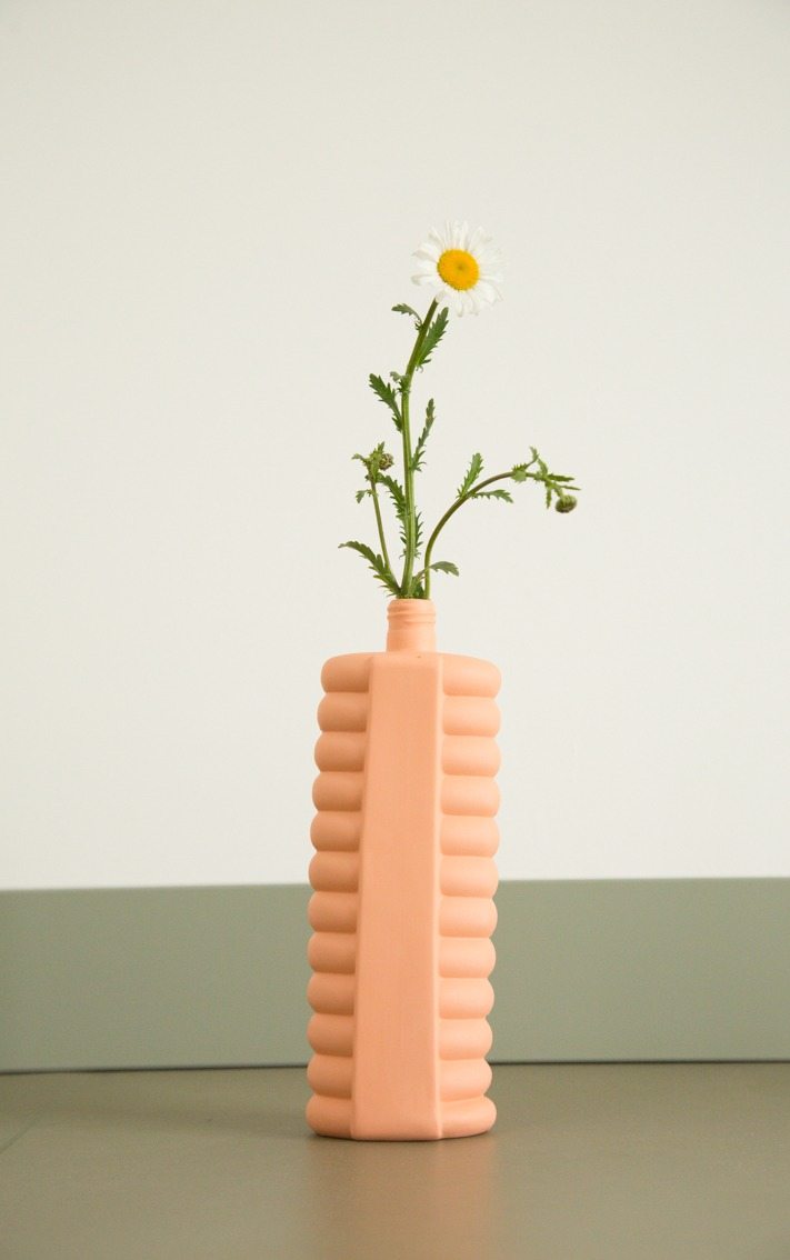 bottle vase #10 orange