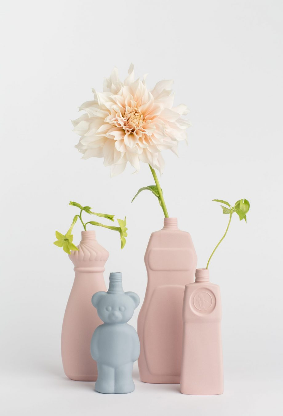 group photo vases
