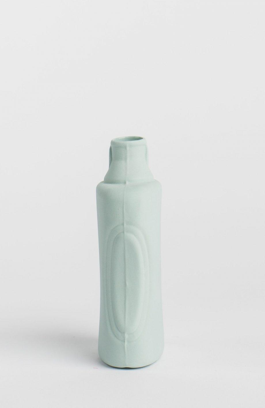 bottle vase #21 dusty mint