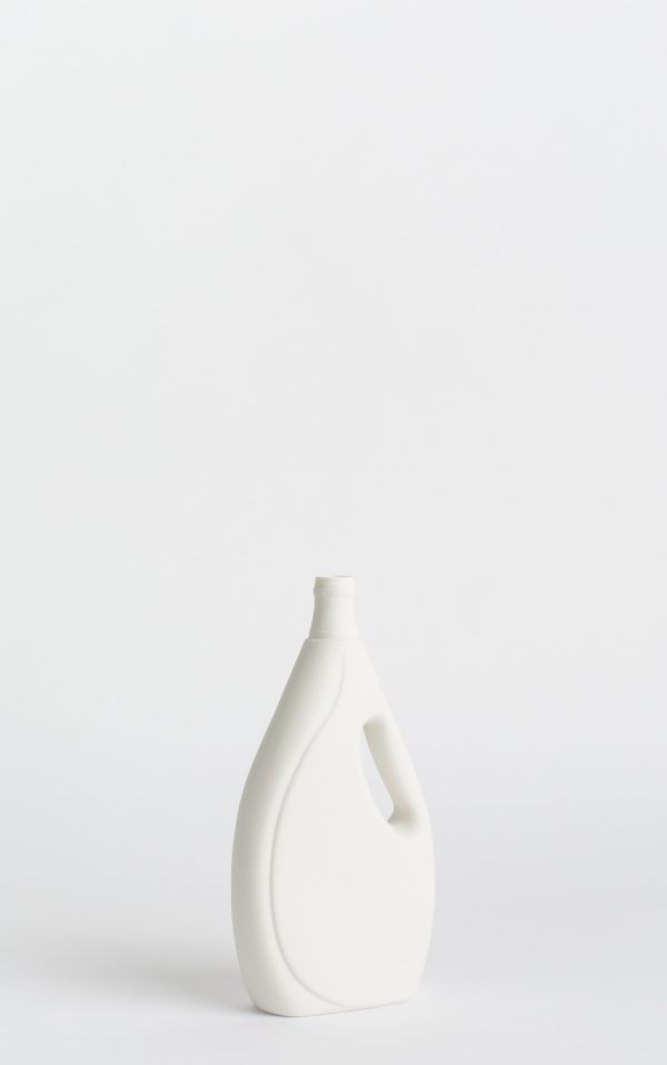 bottle vase #7 white