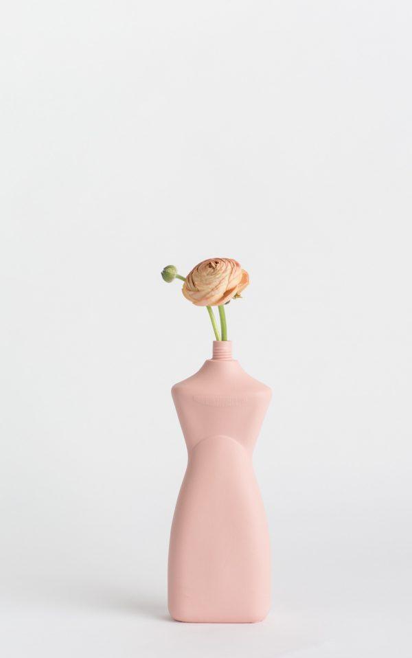 bottle vase #8 rose with flower