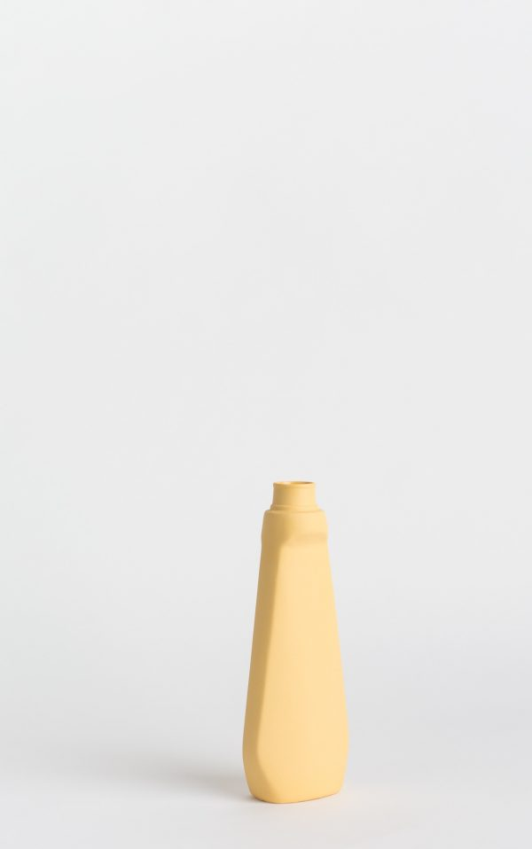 bottle vase #4 warm yellow