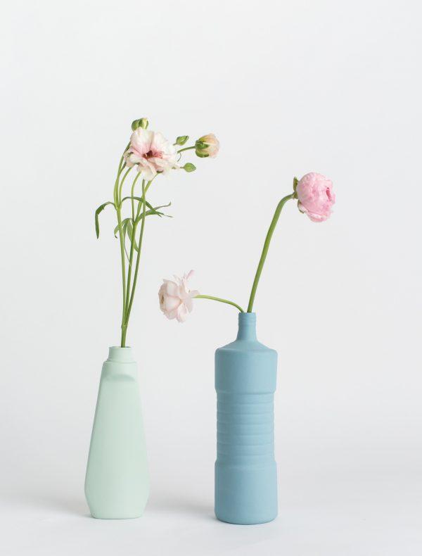 foekje fleur bottle vases blue set