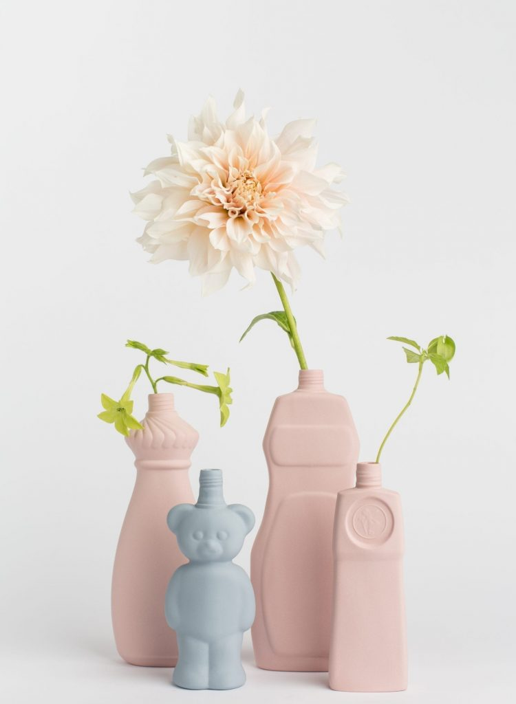group photo vases