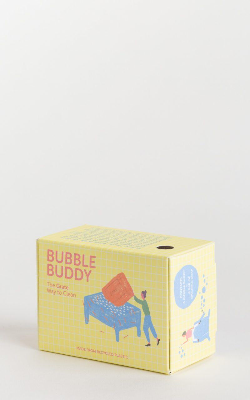 Bubble buddy packaging yellow