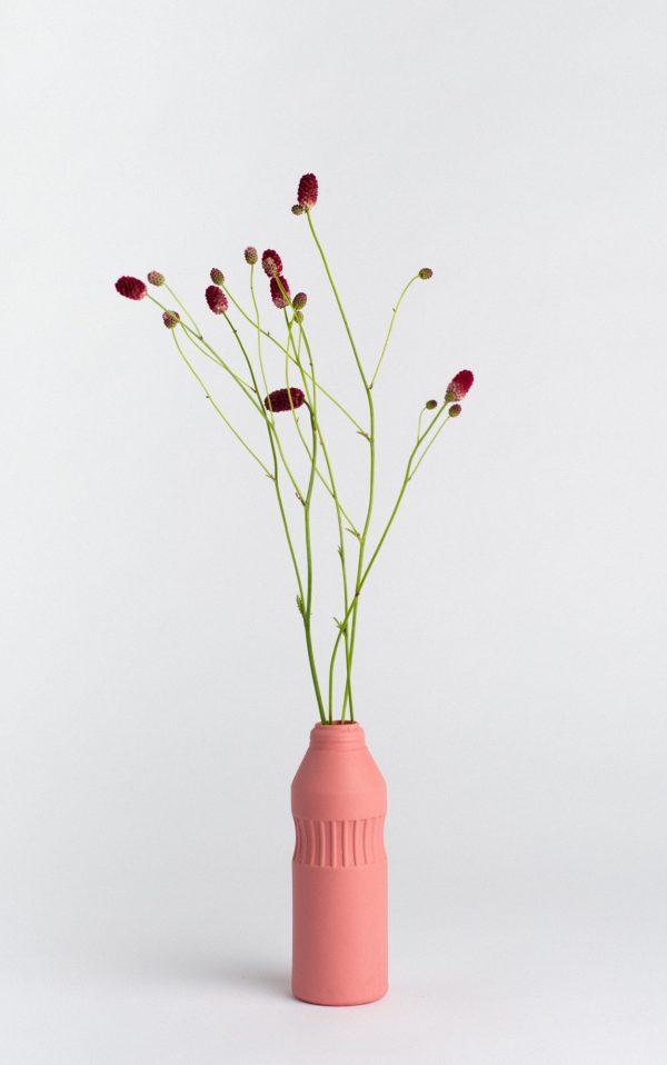 bottle vase #10 old red
