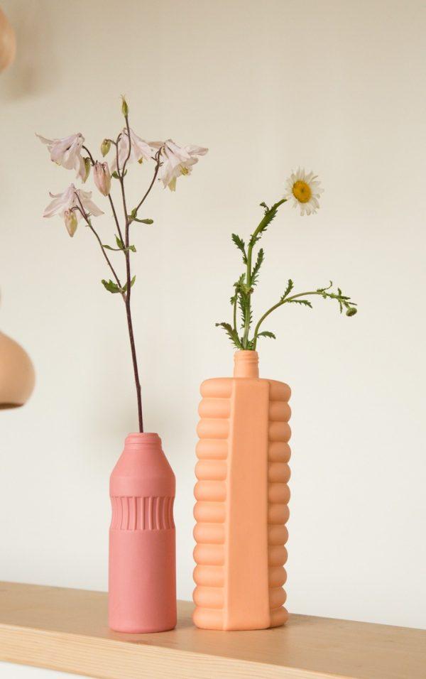 bottle vases #11 old red - #10 orange